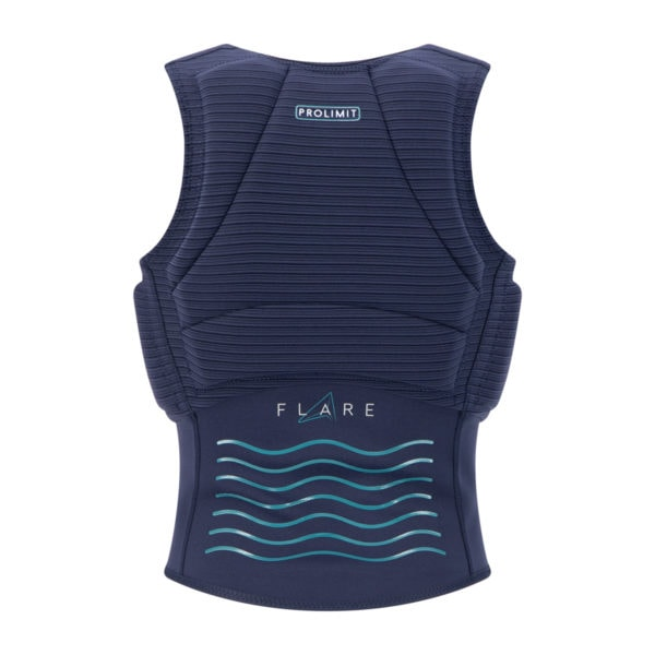 Prolimit Womens Flare Vest_navy_turquoise_back