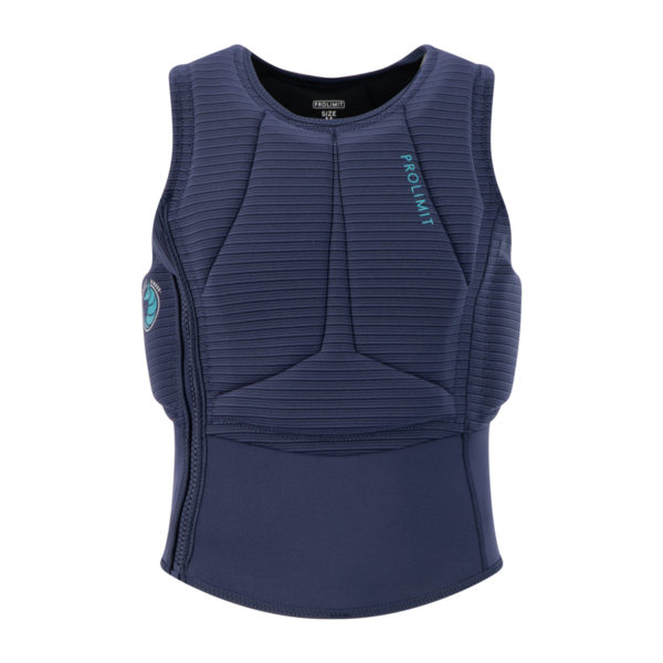 Prolimit Womens Flare Vest navy_turquoise_front