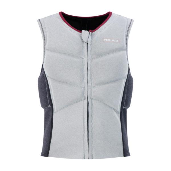 Prolimit Womens Oxygen Vest grey_black_wine_front