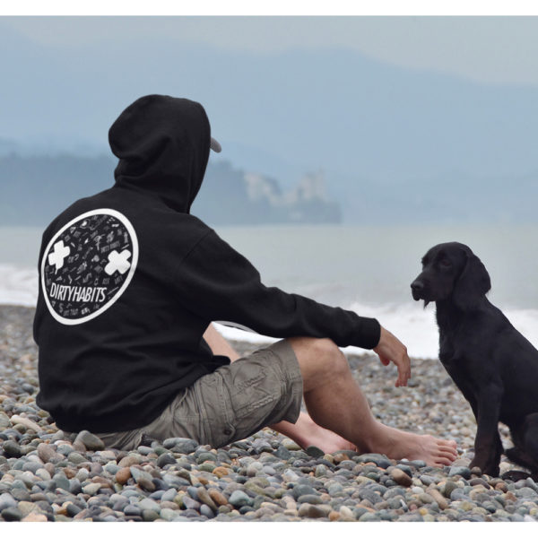 Dirty Habits doodle-hoodie-liestyle-back