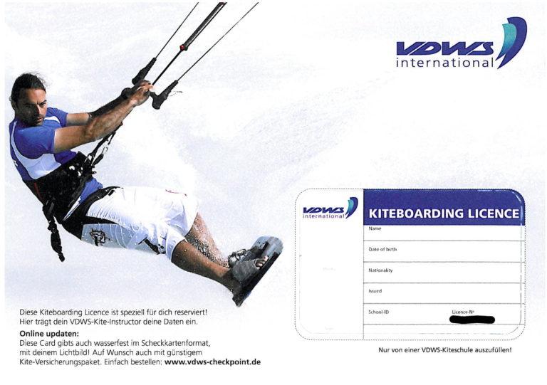 VDWS Kitesurf Lizenz